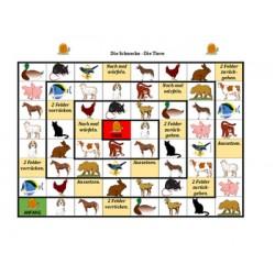 Tiere auf Deutsch Schneckenspiel