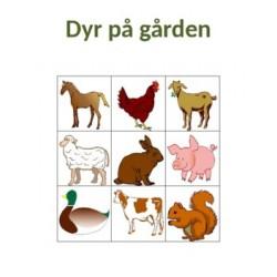 Dyr på gården på Norsk Bingo