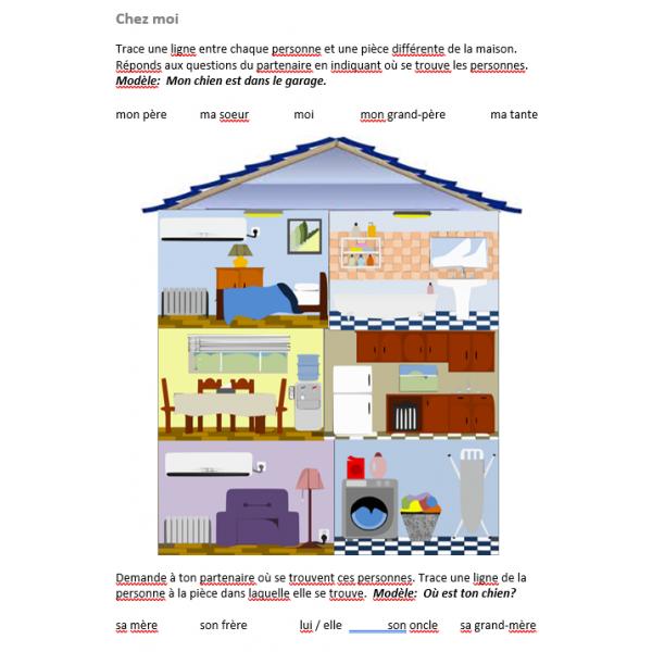 Famille et Maison en français Activité orale