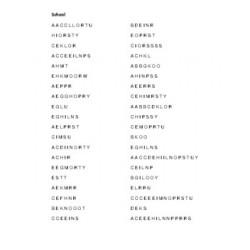 School in English Word Scramble