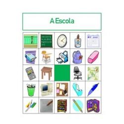 Material escolar em português Bingo