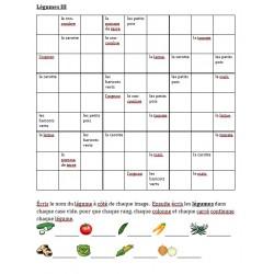 Légumes en français Sudoku
