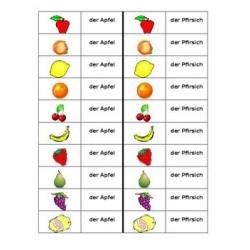 Obst auf Deutsch Dominospiel