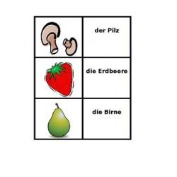 Obst und Gemüse auf Deutsch Kartenspiele
