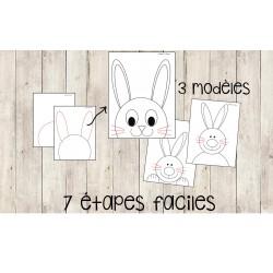Étapes pour réaliser un lapin - 3 modèles