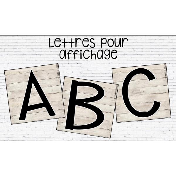 Lettres pour affichage