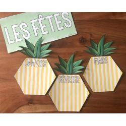 Affichage ananas pour les anniversaires/fêtes