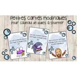 Petites cartes pour cadeau de bulles à souffler