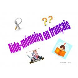 Aide-mémoire en français