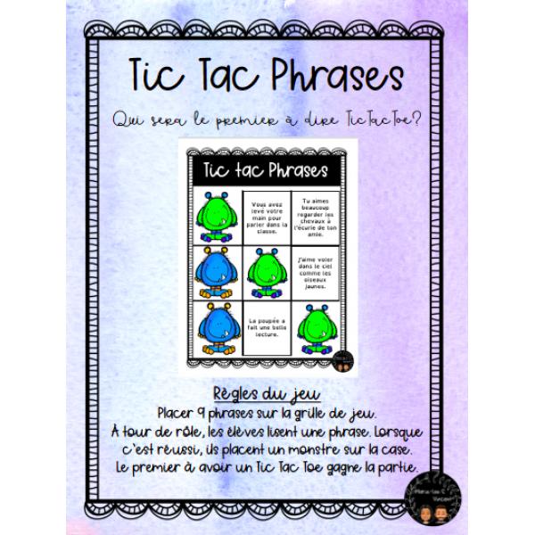 Tic Tac Phrases