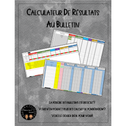Calculateur de résultats (Bulletin)