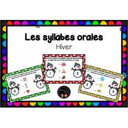 Les syllabes orales - Boom Cards