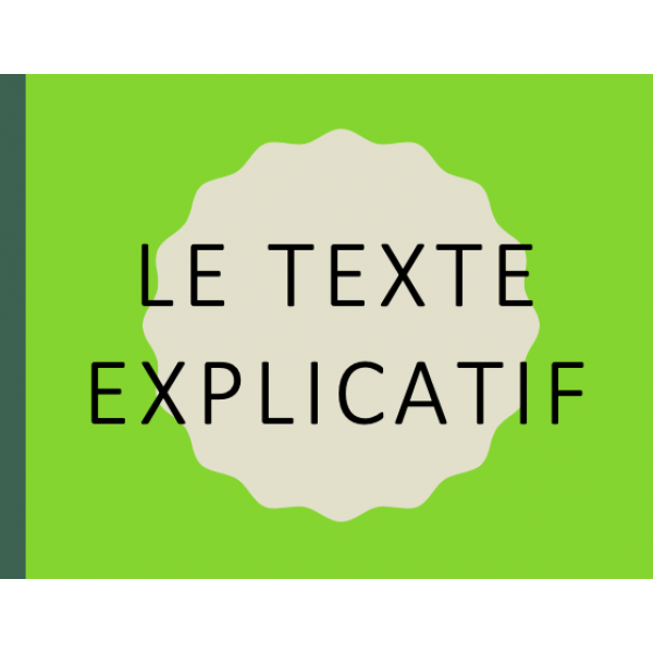 Texte explicatif (théorie)