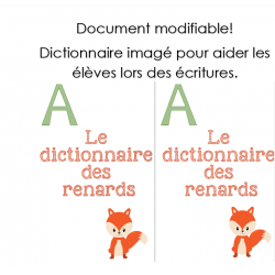 Dictionnaire imagé modifiable