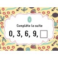 Cartes à tâches - Suites de nombres