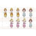 Tableau de princesses et de chevaliers