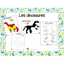 Dinosaures en blocs mosaïques