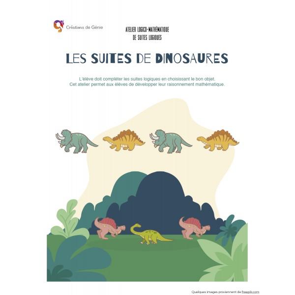 Des suites logiques (dinosaures)