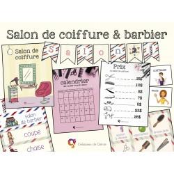 Salon de coiffure / barbier (jeux libres)