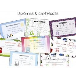 Certificats pour jeux de logiques