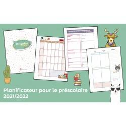 Planificateur pour le préscolaire 2021/2022