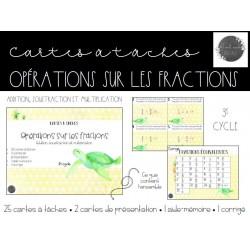 Cartes à tâches - Opérations sur les fractions