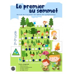 Le premier au sommet - Tables de multiplication