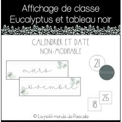 Affichage de classe eucalyptus - Calendrier + date