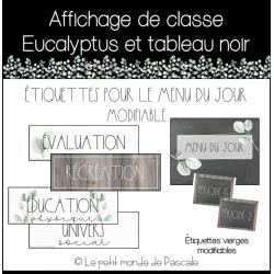 Affichage de classe eucalyptus - Menu du jour