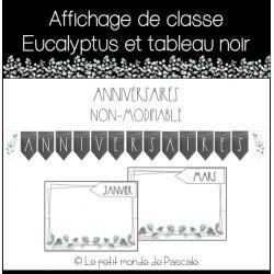 Affichage de classe eucalyptus - Anniversaires