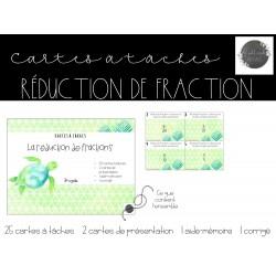 Cartes à tâches - Réduction de fractions