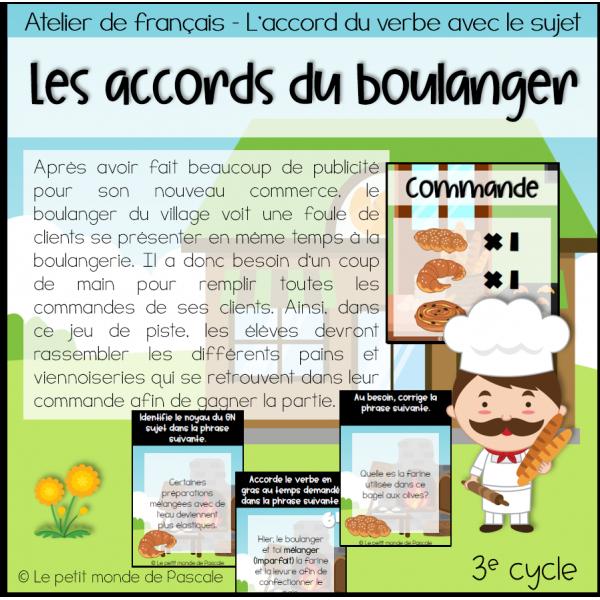 Les accords du boulanger - 3e cycle