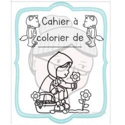 Cahier à colorier Loup et Contes