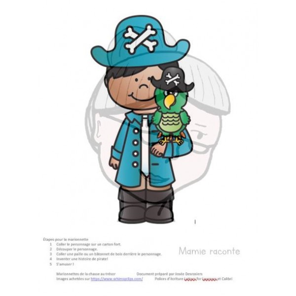 Marionnettes en lien avec les pirates