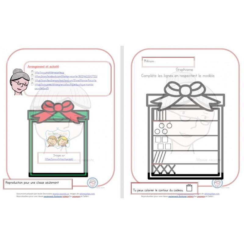 Cadeau De Noel Classe.Graphisme Cadeau De Noël