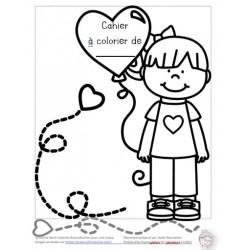 Cahier à colorier Saint-Valentin