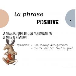 phrase positive et négative