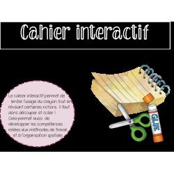 Cahier interactif - grammaire 2e année