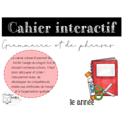Cahier interactif grammaire - 1e année