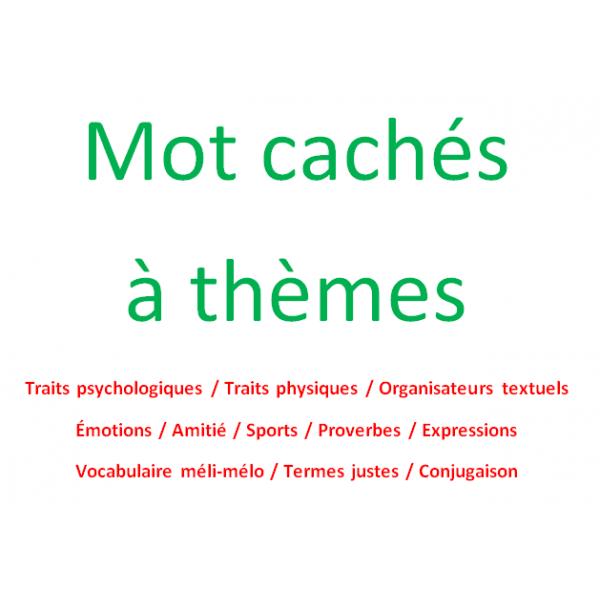 Mots cachés à thèmes / extrait