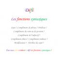 Les fonctions syntaxiques / extrait