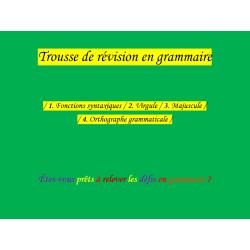 Trousse de révision en grammaire