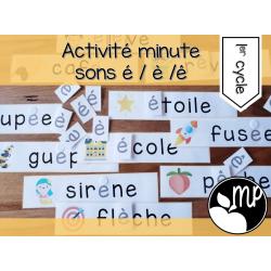 Activité minute sons é-è-ê