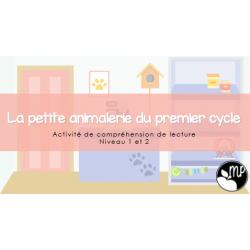 La petite animalerie du 1ER CYCLE