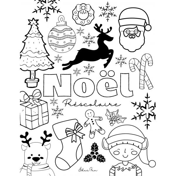 Cahier temps libre Noël préscolaire, maternelle