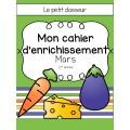 Cahier d'enrichissement (1re) - Mars