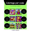 Coloriage par code - La rentrée scolaire (1re)
