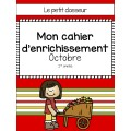 Cahier d'enrichissement (1re) - Octobre