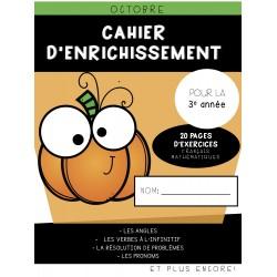 Cahier d'enrichissement (3e année) - Octobre