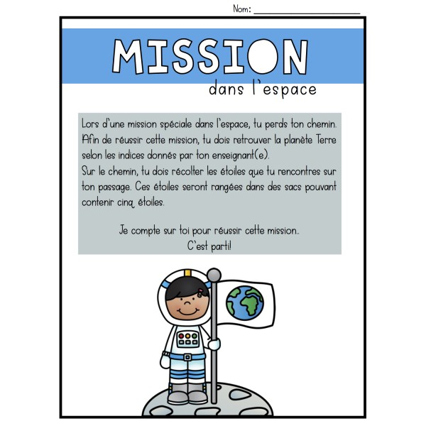 Résoudre - Mission dans l'espace